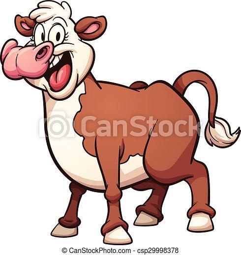Vaca de dibujos animados - csp29998378