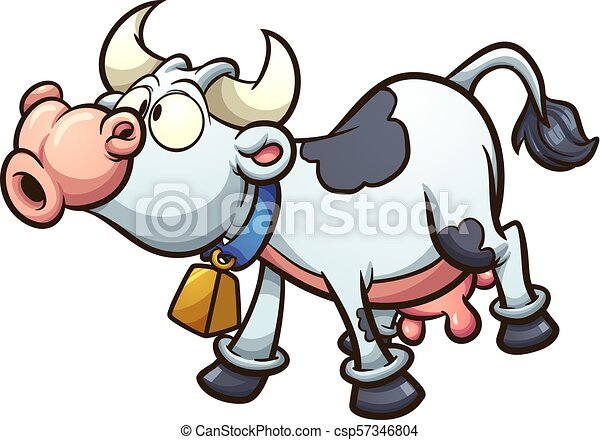 Vaca de dibujos animados - csp57346804