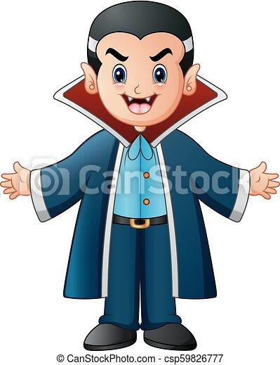 Vampiro de dibujos animados - csp59826777