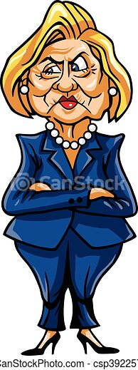 Caricature of Hillary Clinton - csp39225747