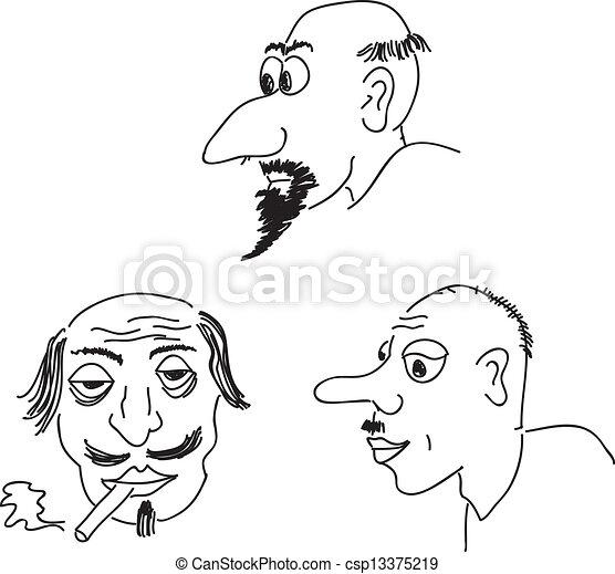 Caricature portraits - csp13375219