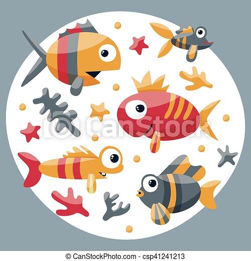 Carino Alghe Set Corallo Marino Starfish Pesci Bambini Bolla