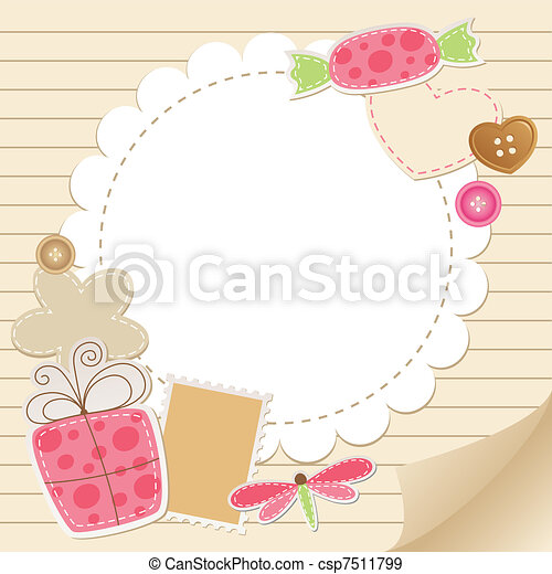 carino, cartolina auguri, vendemmia - csp7511799