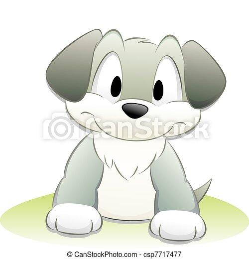 carino, cartone animato, cane - csp7717477