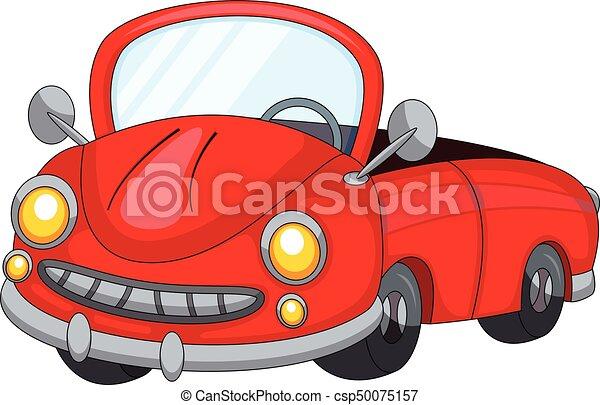 Carino Cartone Animato Macchina Rossa Carino Pieno Colorare Automobile Cartone Animato Rosso Canstock