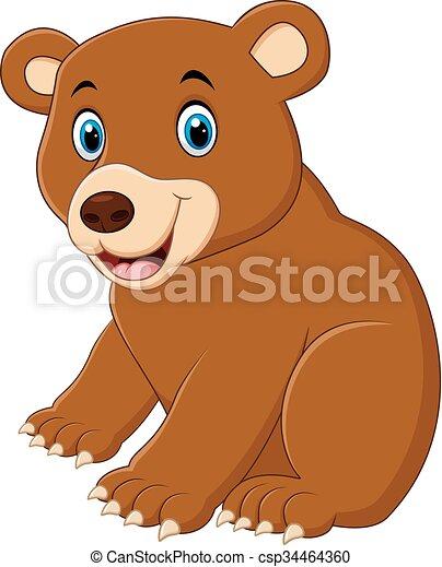 Carino cartone animato orso marrone marrone carino