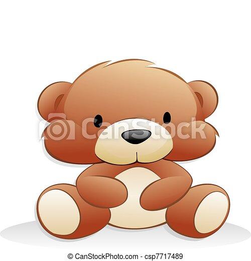Poster cute teddy orso cartone animato in camera u pixers