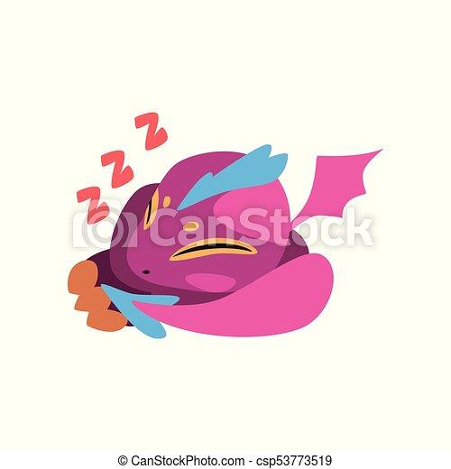 Carino Fantastico In Pausa Disegno Viola Gioco Carattere