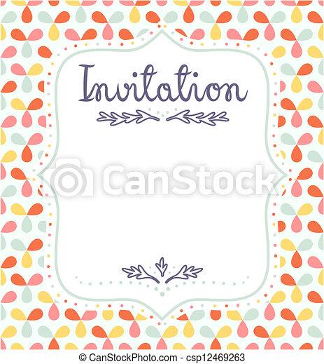 carino, invito, eventi, sagoma, festivo - csp12469263