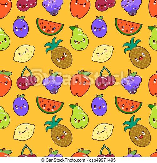 Carino Kawaii Ciliegia Colorito Pomegranate Caratteri