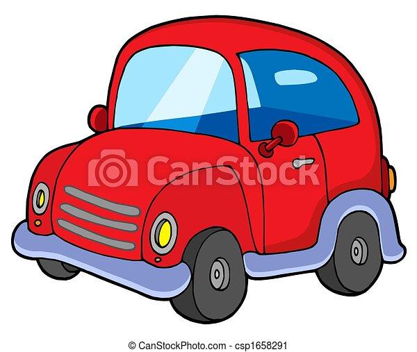Carino Macchina Rossa Carino Illustration Automobile Isolato Rosso Canstock