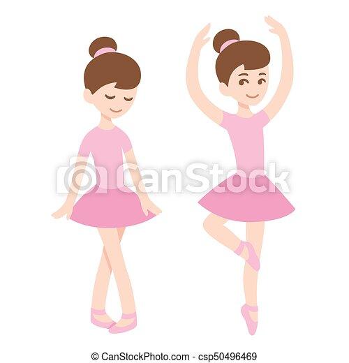 Carino ragazze ballerina. rosa carino balletto dress. arte