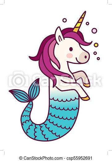 Carino Semplice Tail Fish Disegno Racconto Tema Sognare