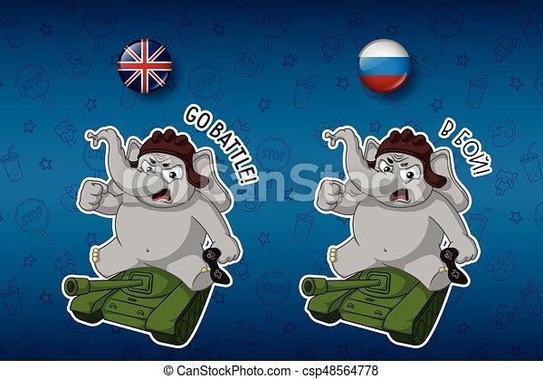 Carino set inglese grande tank. languages. nick. elefante