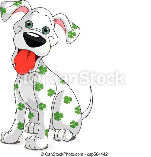 carino, st., cane, patrick's, sorridente, giorno - csp5644421