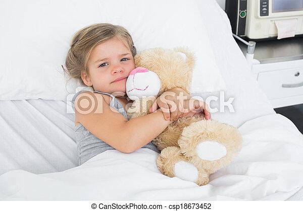 Angolo Letto Ospedale : Carino teddy letto ospedale orso abbracciare ragazza carino