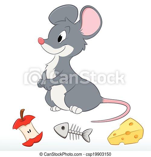 Carino topo cartone animato carino mouse a pi - Cartone animato immagini immagini fantasma immagini ...
