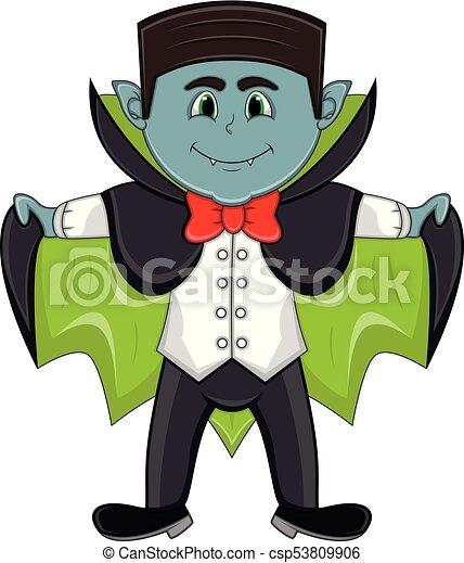 Carino vampiro cartone animato carino pieno colorare