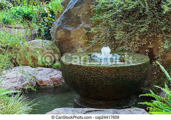 Underbar Carlo, monte, trädgård japansk, fontän, monaco. TL-61