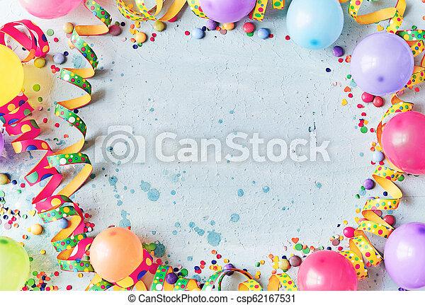 Carnaval multicolor o antecedentes de cumpleaños - csp62167531