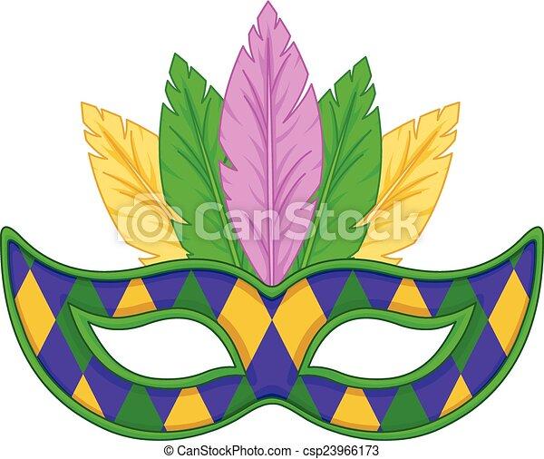 Máscara de Mardi Gras - csp23966173