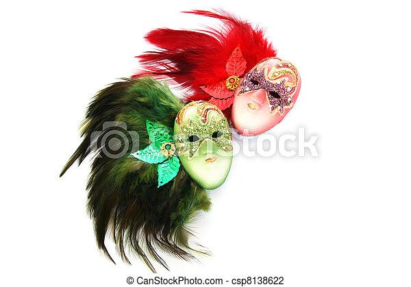 Máscaras de carnaval - csp8138622
