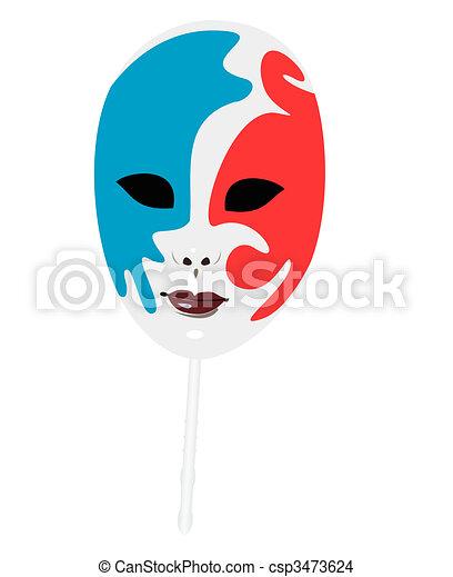 Ilustración realista de máscaras de carnaval - csp3473624