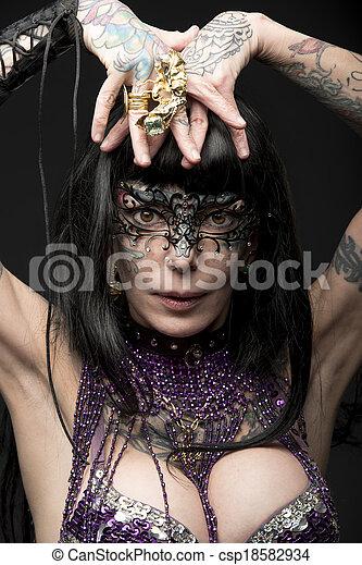 carnival bizarre woman  - csp18582934