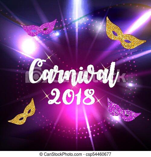 carnival brochure template for brazil carnival in south america celebration greeting card