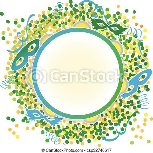 Carnival green yellow - csp32740617