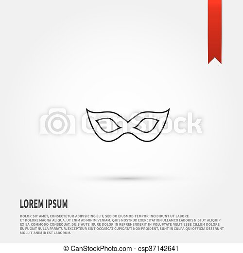 carnival mask icon carnival mask symbol flat design style