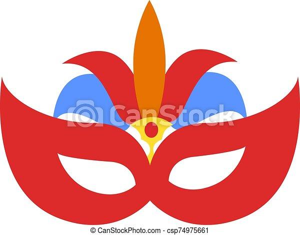Carnival mask, illustration, vector on white background. - csp74975661
