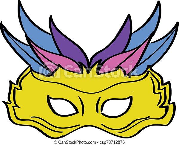 Carnival mask, illustration, vector on white background. - csp73712876