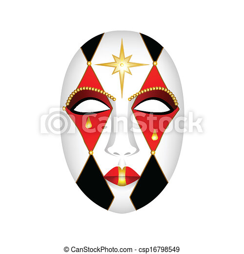carnival mask on a white background - csp16798549