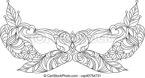 Carnival mask on white background - csp40754731