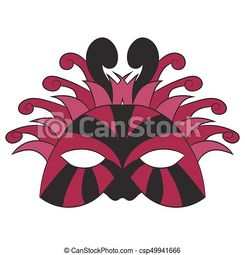 Carnival mask. vector illustration. Drawing by hand. - csp49941666