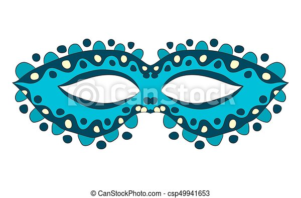 Carnival mask. vector illustration. Drawing by hand. - csp49941653