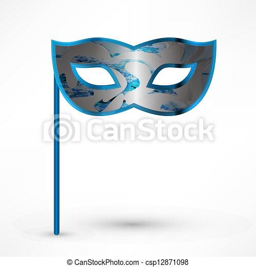 Carnival Mask. Vector illustration. - csp12871098