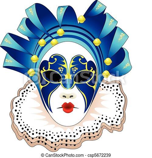 Carnival Mask Vector illustration - csp5672239
