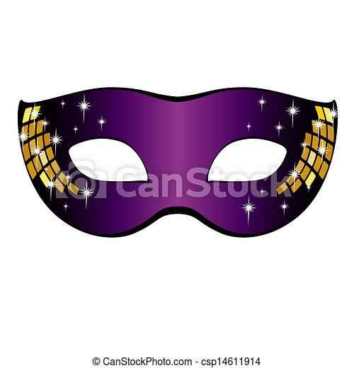 Carnival Mask. Vector illustration. - csp14611914