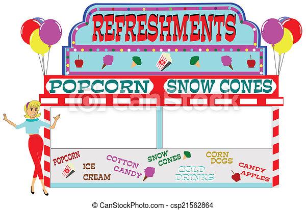 carnival refreshment stand  - csp21562864