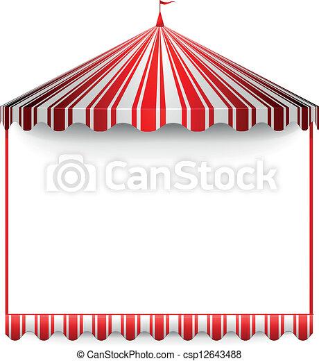 carnivals tent frame - csp12643488
