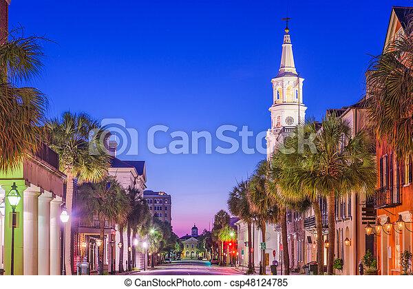 Charleston, Carolina del Sur, EE.UU - csp48124785