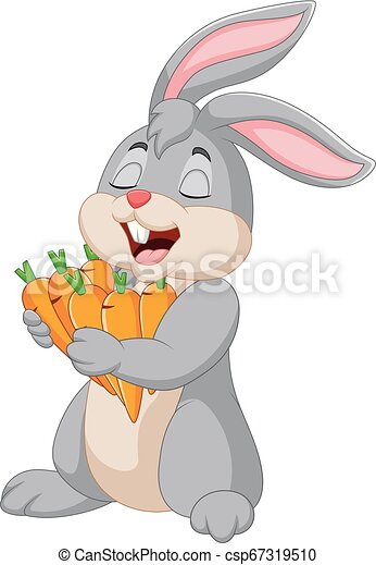 carote, cartone animato, coniglio, presa a terra - csp67319510