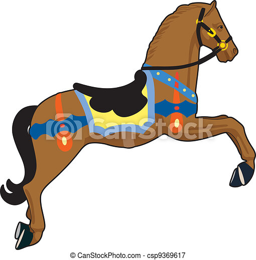 carousel horse wooden horse vectors illustration search clipart rh canstockphoto com  carousel horse clipart black and white