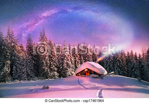 carpathians, kerstmis - csp17461964