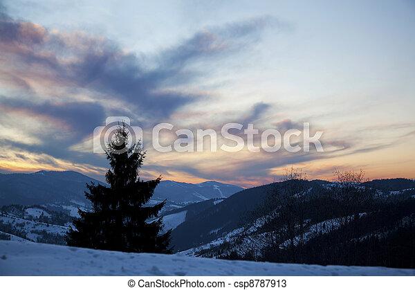 Carpathians Sunset 3 - csp8787913