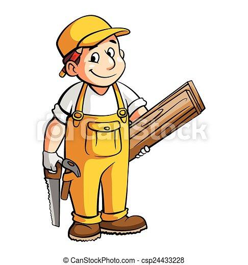 carpenter cartoon illustration vector illustration search clipart rh canstockphoto com carpenter clip art free carpentry clipart