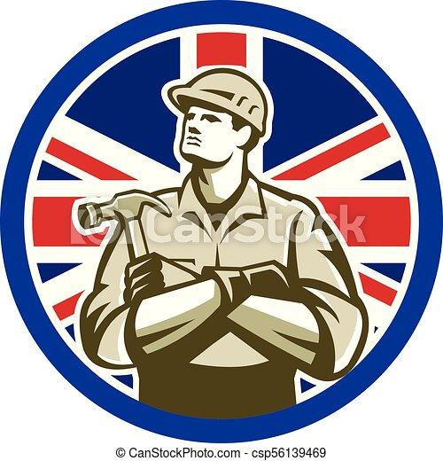 carpenter-crossarm-up CIRC GR UK-FLAG-ICON - csp56139469
