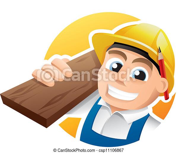 carpentiere, illustrazione - csp11106867
